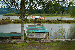 Rowboat Dock at Silver Lake State Park, Cowlitz County, Washington, US