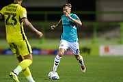 Forest Green Rovers Dayle Grubb(8) runs forward during the EFL Trophy match between Forest Green Rovers and Cheltenham Town at the New Lawn, Forest Green, United Kingdom on 4 September 2018.