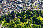 Nederland, Gelderland, Nijmegen, 29-05-2019;  binnenstad Nijmegen, Kronenburgerpark met Kruittoren. <br /> Historic city center Nijmegen with city park.<br /> <br /> luchtfoto (toeslag op standard tarieven);<br /> aerial photo (additional fee required);<br /> copyright foto/photo Siebe Swart