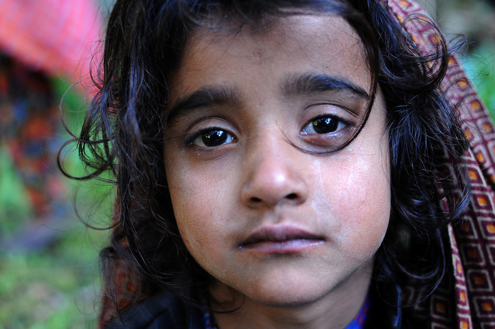 Salma, 5 years old, exhausted. Some days were tough for the children, but to live the life of a Van Gujjar, they need to build their endurance basically from birth.