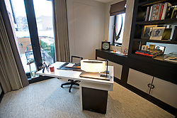 **Home supplement** © Ben Cawthra. 22/01/2013. The office of the penthouse apartment of The Lansbury, on Basil Street, London, recently refurbished in to 6 luxury apartments opposite Harrods in central London. Photo credit: Ben Cawthra.