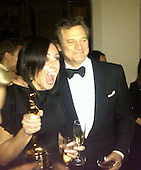 Colin Firth and Livia Firth.2011 Weinstein After Oscar Party