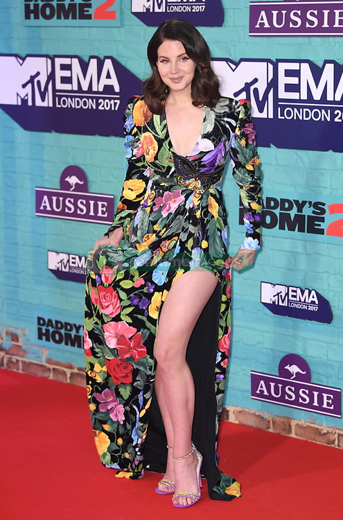 Lana Del Rey arriving at the MTV Europe Music Awards 2017 held at The SSE Arena, London. Photo credit should read: Doug Peters/EMPICS Entertainment