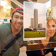 Capitaland Building People Exhibit , Arman Taylo with Nat Geo Photographer Catherine Karnow