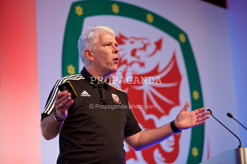 NEWPORT, WALES - Friday, May 20, 2016: Bryn Law during the Football Association of Wales' National Coaches Conference 2016 at the Celtic Manor Resort. (Pic by David Rawcliffe/Propaganda)