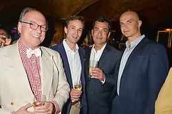 Left to right, Michael Wade, Rupert Muldoon, Remy Blumenfeld, Henryk Hetflaisz at the Bedales Art & Design Party hosted by David Linley at Annabel's, 44 Berkeley Square, London on 30th June 2015.