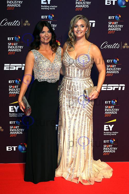 Bianca Westwood, Hayley McQueen, BT Sport Industry Awards, Battersea Evolution, London UK, 27 April 2017, Photo by Richard Goldschmidt