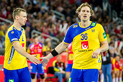 Jesper Nielsen (SWE) during handball match between National teams of Spain and Sweden in Final match of Men's EHF EURO 2018, on January 28, 2018 in Arena Zagreb, Zagreb, Croatia . Photo by Ziga Zupan / Sportida