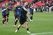 Leeds United defender Pontus Jansson (18) celebrates win during the EFL Sky Bet Championship match between Bristol City and Leeds United at Ashton Gate, Bristol, England on 9 March 2019.