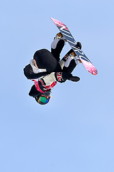 February 19, 2018 - Pyeongchang, SOUTH KOREA - 180219 Laurie Blouin of Canada competes in the Women's Big Air Qualification during day ten of the 2018 Winter Olympics on February 19, 2018 in Pyeongchang..Photo: Carl Sandin / BILDBYRÃ…N / kod CS / 57999_306 (Credit Image: © Carl Sandin/Bildbyran via ZUMA Press)