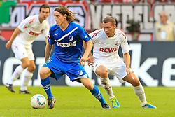 25.09.2011,  Rhein Energie Stadion, Koeln, GER, 1.FBL, 1. FC Koeln vs TSG Hoffenheim, im Bild.Sebastian Rudy (Hoffenheim #6) gegen Lukas Podolski (Koeln #10)..// during the 1.FBL, 1. FC Koeln vs TSG Hoffenheim on 2011/09/25, Rhein-Energie Stadion, Köln, Germany. EXPA Pictures © 2011, PhotoCredit: EXPA/ nph/  Mueller *** Local Caption ***       ****** out of GER / CRO  / BEL ******