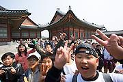 Gyeongbokgung Palace. School kids.