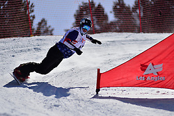 Snowboarder Cross Action at the 2016 IPC Snowboard Europa Cup Finals and World Cup