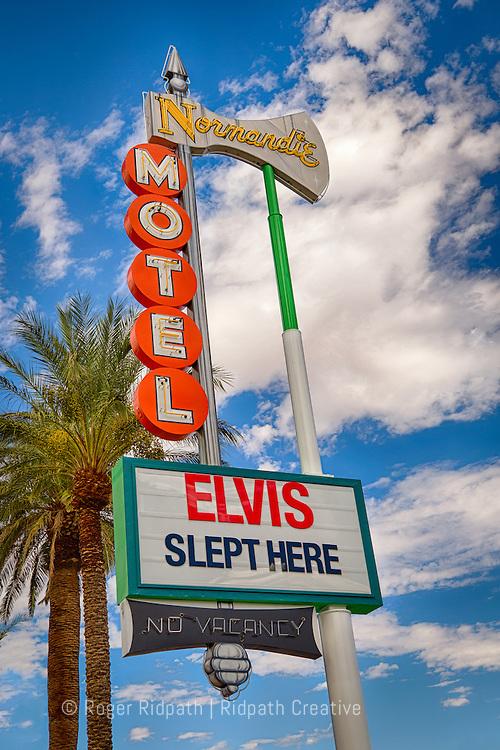 normandie motel - elvis slept here Las Vegas sign