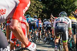 Peloton with HARDY Romain of Fortuneo - Samsic during 2nd lap on Mur de Huy at the 2018 La Flèche Wallonne race, Huy, Belgium, 18 April 2018, Photo by Thomas van Bracht / PelotonPhotos.com   All photos usage must carry mandatory copyright credit (Peloton Photos   Thomas van Bracht)