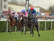 Requinto Dawn ridden by Tony Hamilton (red cap) wins Betway Brocklesby Conditions Stakes Div 2 during the Betway Lincoln meeting at Doncaster Racecourse, Doncaster<br /> Picture by Martin Lynch/Focus Images Ltd 07501333150<br /> 01/04/2017