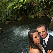 Costa Rica Wedding Photography at Rio Celeste.  These amazing elopement photos were taken in Costa Rica's beautiful Tenorio national park.  I produced both a wedding video and stunning wedding photography. rio celeste costa rica