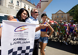 Mayor Anton Tone Smolnikar before the 2nd stage of Tour de Slovenie 2009 from Kamnik to Ljubljana, 146 km, on June 19 2009, Slovenia. (Photo by Vid Ponikvar / Sportida)