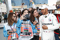April 29, 2018 - Baku, Azerbaijan - Motorsports: World Championship; 2018; Grand Prix Azerbaijan, Grand Prix of Europe, Formula 1 2018 Azerbaijan Grand Prix, .#44 Lewis Hamilton (GBR, Mercedes AMG Petronas F1 Team) (Credit Image: © Hoch Zwei via ZUMA Wire)