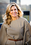 14-11-2018 - THE HAGUE Queen Máxima is at the launch of SchuldenlabNL. The SchuldenlabNL Foundation is a partnership between public and private parties and aims to make the Netherlands debt-free. Copyright Robin Utrecht