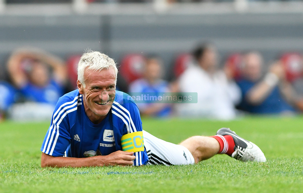 Didier Deschamps during the France 98 V Stade Toulousain match at the Ernest Wallon stadium in Toulouse, France, on July 10, 2017. Photo by Pascal Rondeau/ABACAPRESS.COM