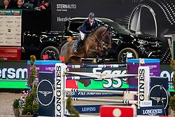 LYNCH Denis (IRL), Caruso<br /> Leipzig - Partner Pferd 2019<br /> Longines FEI Jumping World Cup<br /> Sparkassen-Cup - Grosser Preis von Leipzig<br /> 20. Januar 2019<br /> © www.sportfotos-lafrentz.de/Stefan Lafrentz