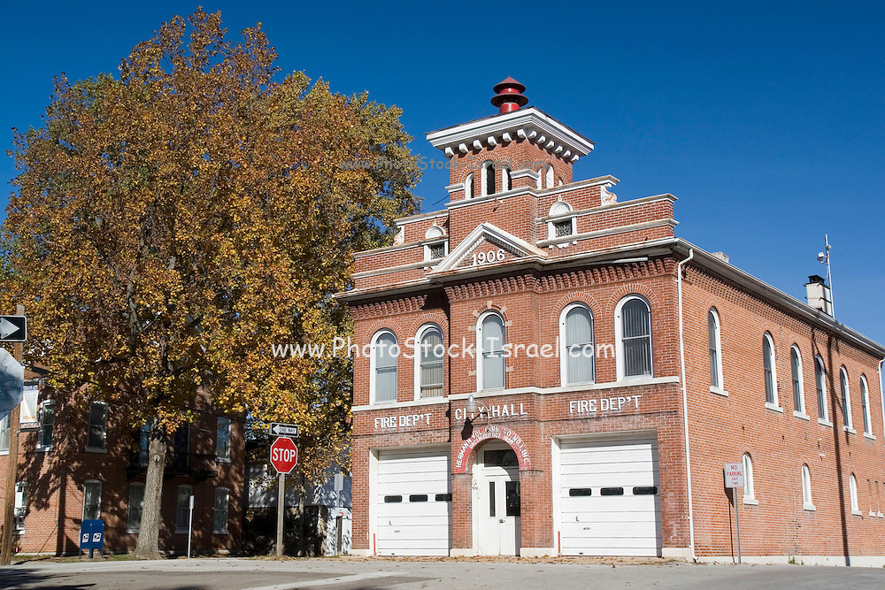 Missouri MO USA, Fire department and city hall of Hermann, MO October 2006
