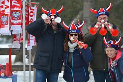 January 27, 2018 - Zakopane, Poland - Thousands of Polish supporters arrive ahead of the Team competition at the FIS Ski Jumping World Cup, in Zakopane, Poland. .On Saturday, 27 January 2018, in Zakopane, Poland. (Credit Image: © Artur Widak/NurPhoto via ZUMA Press)