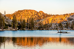 """Paradise Lake 6"" - Photograph of Paradise Lake in the Tahoe area back country, shot just before sunset."