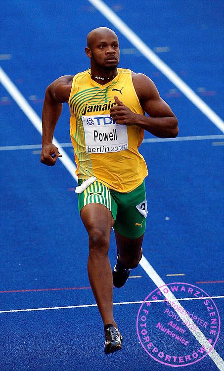 BERLIN 15/08/2009.12th IAAF World Championships in Athletics Berlin 2009.100 Metres Men - 1st Round.Asafa Powell of Jamaica ..Phot: Piotr Hawalej / WROFOTO