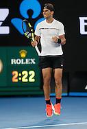 RAFAEL NADAL (ESP) macht die Faust und jubelt,Jubel,Emotion,,Herren Finale<br /> <br /> Australian Open 2017 -  Melbourne  Park - Melbourne - Victoria - Australia  - 29/01/2017.