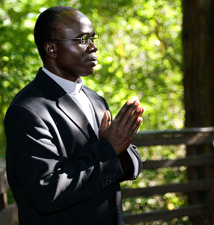 The Reverend Olaboro Centurio of Tororo, Uganda is here in Utah to attend the  Rotarian's International meeting, he hopes to raise money and bring more awareness to poverty and AIDS in his homeland of Africa, where he heads a home for AIDS orphans.. Portrait taken in Bountiful, Utah Friday, June 15, 2007.  August Miller/ Deseret Morning News