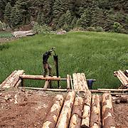 NEPAL. Everest Region, Phakding. May 20th, 2012. Construction site.