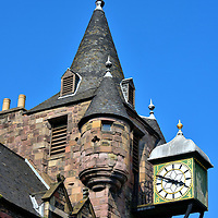 Canongate Tolbooth Clock in Edinburgh, Scotland<br />