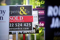 © Licensed to London News Pictures. 23/06/2017. <br /> BEXLEY, UK.<br /> Property for sale and to let signs, Bexley village.<br /> Photo credit: Grant Falvey/LNP