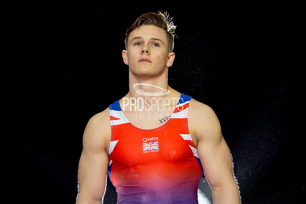 Brinn Bevan of Great Britain (GBR) during the iPro Sport World Cup of Gymnastics 2017 at the O2 Arena, London, United Kingdom on 8 April 2017. Photo by Martin Cole.