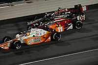 Tony Kanaan, Oriol Servia, Justin Wilson, Peak Antifreeze and Motor Oil Indy 300, Chicagoland Speedway, Joliet, IL USA