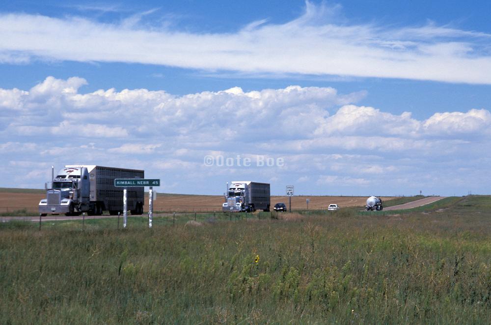 trucks on the way