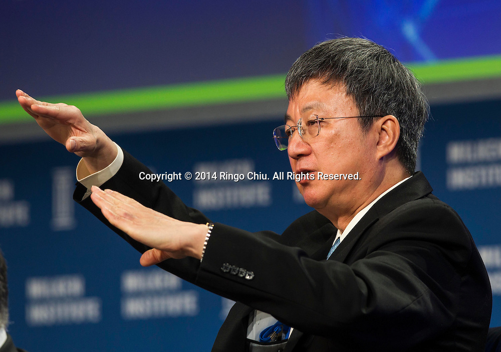 "Zhu Min, deputy managing director of International Monetary Fund, in a panel ""The Global Economy: Hoping for Momentum amid Tepid Times"" during the Milken Institute Global Conference on Monday, April 28, 2014 in Beverly Hills, California. (Photo by Ringo Chiu/PHOTOFORMULA.com)"