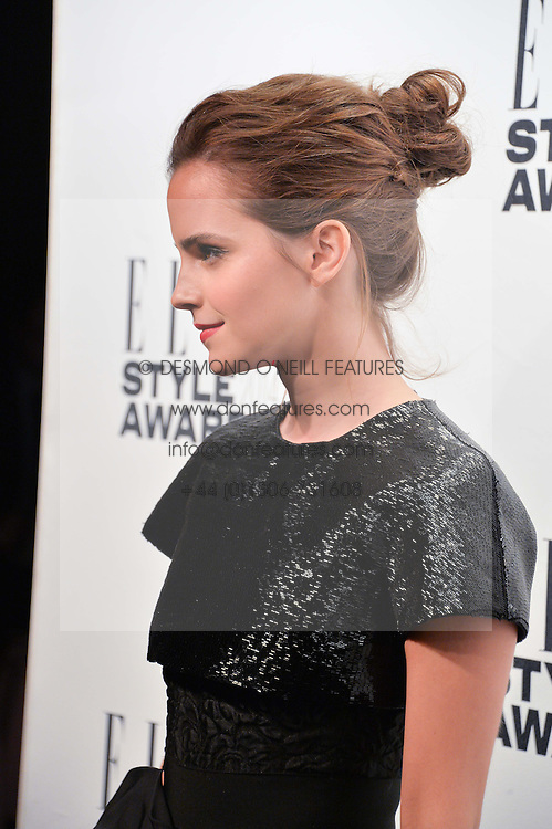 EMMA WATSON at the 17th Elle Style Awards 2014 in association with Warehouse held at One Embankment, 8 Victoria Embankment, London on 18th February 2014.