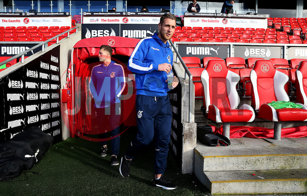 Lee Brown of Bristol Rovers arrives at Highbury Stadium - Mandatory by-line: Matt McNulty/JMP - 14/01/2017 - FOOTBALL - Highbury Stadium - Fleetwood, England - Fleetwood Town v Bristol Rovers - Sky Bet League One