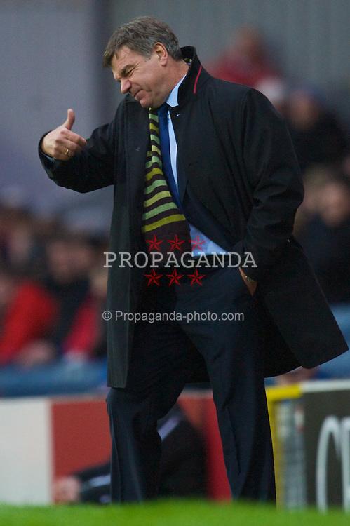 BLACKBURN, ENGLAND - Saturday, December 20, 2008: Blackburn Rovers' new manager Sam Allardyce during the Premiership match against Stoke City at Ewood Park. (Photo by David Rawcliffe/Propaganda)