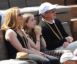 INDIAN WELLS, CALIFORNIA - MARCH 09:  Larry Ellison who is a co-founder and the executive chairman and chief technology officer of Oracle Corporation and actress Elisabeth Shue attend  the men's singles second round match on day six of the BNP Paribas Open at the Indian Wells Tennis Garden on March 09, 2019 in Indian Wells, California..People: Elisabeth Shue. (Credit Image: © SMG via ZUMA Wire)