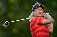 Suzann Pettersen (Nor) competes during the second round of LPGA Evian Championship 2014, day 5, at Evian Resort Golf Club, in Evian-Les-Bains, France, on September 12, 2014. Photo Philippe Millereau / KMSP / DPPI