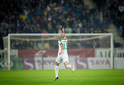 Dario Canadzija of NK Olimpija celebrates after scoring first goal for Olimpija during football match between NK Maribor and NK Olimpija Ljubljana in 34th Round of Prva liga Telekom Slovenije 2017/18, on May 19, 2018, in Stadion Ljudski vrt, Maribor, Slovenia. Photo by Vid Ponikvar / Sportida