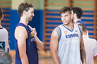 Pau Gasol and Willy Hernangomez during the Spain training session before EuroBasket 2017 in Madrid. August 02, 2017. (ALTERPHOTOS/Borja B.Hojas)