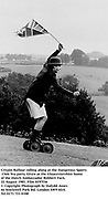 Crispin Balfour rolling along at the Dangerous Sports Club Tea party. Given at the Gloucestershire home of the Dutch Ambassador Robbert Fack. 22 August 1981. Film 8197f36<br />