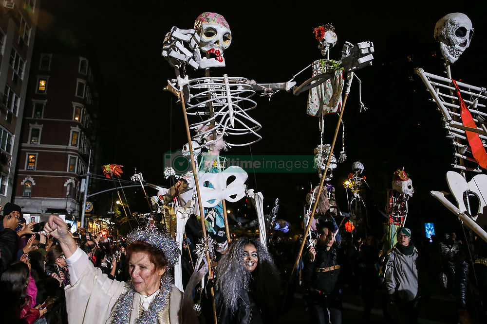October 31, 2018 - New York, NEW YORK, UNITED STATES - Revelers participate in the 2018 New York City Halloween Parade on October 31, 2018 in New York City. (Credit Image: © William Volcov/ZUMA Wire)