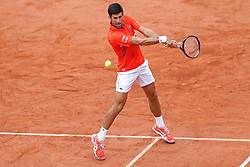 May 30, 2019 - Paris, France - Novak Djokovic (SRB) returns to Henri Laaksonen (SUI) during the French Open Tennis at Stade Roland-Garros, Paris on Thursday 30th May 2019. (Credit Image: © Mi News/NurPhoto via ZUMA Press)