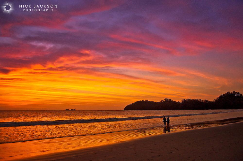 Playa Hermosa in Costa Rica is one of the most beautiful beaches I've visited with crystal clear blue waters and amazing nightly sunsets